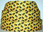 Grosgrain Ribbon 7 8  15 Bumble Bee Buzz Blind Spring Flower Bees Printed