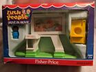 Fisher Price Little People Drive In Movie2454New original box wear1989 VTG