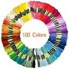 100x Multi Colors Cross Stitch Cotton Embroidery Thread Floss Sewing Skeins