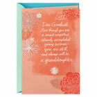 Graduate Graduation Card FOR GRANDDAUGHTER by HALLMARK Flowers on coral
