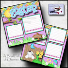 EASTER 2020 QUARANTINE 2 premade scrapbook pages LAYOUT printed by CHERRY 0141