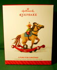HALLMARK ORNAMENT 2014  A PONY FOR CHRISTMAS  #17 IN PONY FOR CHRISTMAS SERIES