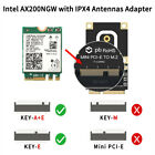 For Intel ax200 NGFF WiFi Card with Adapter for most 2010 2016 mini PCI E Laptop