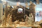 Unique Hand Carved Olive Wood Nativity Set From Bethlehem RARE