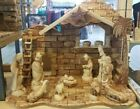 Unique Hand Carved Olive Wood Nativity Set From Bethlehem