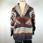 Vintage Woolrich Mens M Hand Knit Sweater Multicolor Aztec Native Southwest