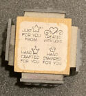 Stampendous Rubber Stamp Cube Just For You Mom Hand Crafted Hand Stamped Created