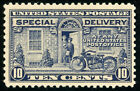 US Scott E12 Motorcycle 10 1922 Special Delivery Perf 11 MH FREE SHIP