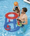 Pool Play Game Float Basketball Ring Toss Floating with Safety Valves 24