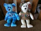 "TY Beanie Baby ""DEUCE"" & ""TOUR TEDDY"" the Bears MWMT 2006"