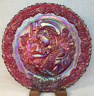 Fenton Ruby Red Carnival 1979 Mothers Day Plate LIMITED Hand Signed Mike Fenton
