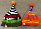 Lot of 2 Little Miss Matched Sweater Knit Beanie Hats