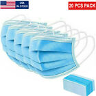 102050100 Pack 3 Ply Disposable Blue Face Mask Ear Loop Mouth Cover