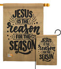 Jueus The Reason Garden Flag Nativity Christmas Hope Christ Cross Yard Banner