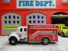 MATCHBOX FIRE FREIGHTLINER HAZ MAT FIELD OPERATIONS CUSTOM KITBASH UNIT