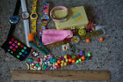 80s Stuff Lot Jewelry Charms Toys Box ETC WATCHES MAY NOT KEEP TIME