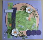 Premade 12 x 12 Scrapbook Layout Page Handmade 3D Family
