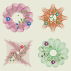 RIPPLED DAISY DESIGNS - 4inch-10 Machine Embroidery Designs CD (FREE SHIPPING)