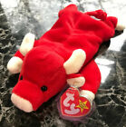 Ty Snort The Bull Beanie Baby PVC Pellets Style 4002 MINT~RARE~RETIRED ❤️