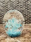 Joe st Clair large controlled bubble paperweight