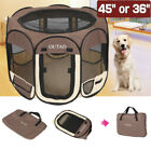 OUTAD Foldable 45 36 Pet Dog Kennel Fence Puppy Playpen Exercise Play Fence SS