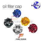 CNC Engine Oil Filler Cap Plugs For Aprilia RST 1000 Futura 2001-2004 01