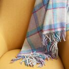 The Weaving Shed UK Wool Blanket Lilac Rainbow Windowpane Throw Splendid