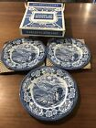 3 Royal Warwick Lochs Of Scotland 7 Plates Dessert Or Salad Original Box