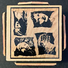 Postmodern Design Faces Of Beauty Cube Rubber Stamp