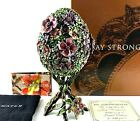 Jay Strongwater Mille Fiori Egg & Stand Limited Edition STUNNING & In Box!!!