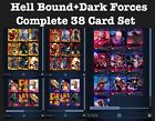 HELLBOUND+DARK FORCES 38 CARD SET RED YELLOW PINK BLUE+TOPPS MARVEL COLLECT