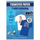PPD Inkjet Iron On Mixed Light And Dark Transfer Paper LTR 85 11quot Pack Of