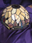 Beautiful Tiffany Style Stained Glass Lamp Shade Jeweled DragonFly