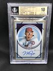 Mike Trout Angels Pristine 2018 Topps Transcendent Auto Purple #5 10 BGS 10 10