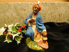 Vtg Chalkware Wiseman Nativity Figurine Made in Italy Composition 4 Figure