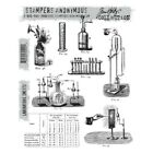 New Stampers Anonymous Tim Holtz Mounted Rubber Stamps Laboratoire CMS173