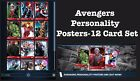 AVENGERS PERSONALITY POSTERS 12 CARD SET TOPPS MARVEL COLLECT DIGITAL