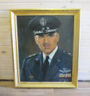 Large Signed Oil Painting of Senior Air Force Officer Rockford Illinois IL