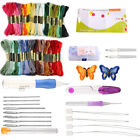 Magic DIY Embroidery Pen Knitting Sewing Tool Kit Punch Needle Set 50 Threads