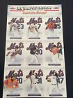 2003 New York Mets Starting Lineup Fleer Uncut Sheet NY Post Exclusive Piazza