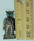 Navajo Native Southwest Owl Brooch Pin Turquoise Sterling Silver