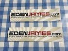 Eden James 'Never Setting Sun' sticker x 2 in good condition