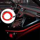 2M Red LED Car Interior Decorative Atmosphere Wire Strip Light Lamp Accessory