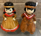 Native American Girl And Boy Salt And Pepper Shakers