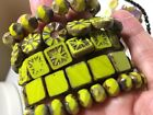 Bulk Lot of Glass Beads 9 strands Czech Glass Beads Variety Mix of Colors