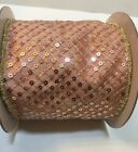 Katherines Collection Pink  Gold Sequin Ribbon 30 930212 NEW 4x 5 Yds