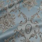 Aulic Pattern Thick Brocade Fabric Damask Jacquard Garments Clothes By Yard