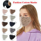 Unisex Cotton Masks Fashion Face Mask Breathable Resuable Washable Mouth Cover