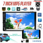7 2 Din Car Parts Stereo Touch Screen MP5 Player USB Radio Bluetooth + Camera