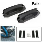 2X 22MM 25MM 28MM Black Plastic Motorcycle Crash Bar Bumper Engine Guard Blocks